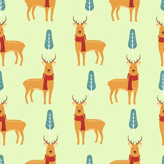 Schattig herten naadloze patroon achtergrond