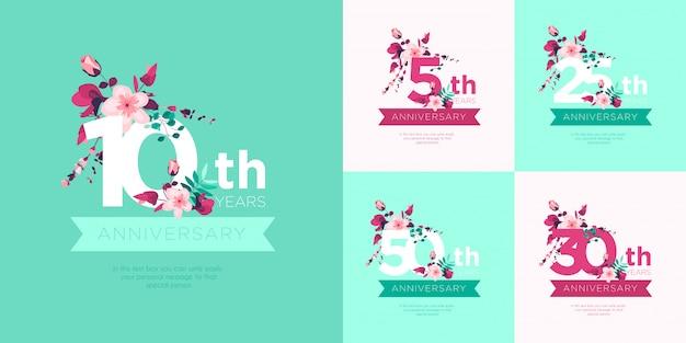 Schattig huwelijksverjaardag badges