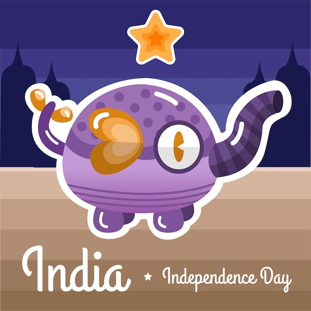 Schattig india onafhankelijkheid achtergrond
