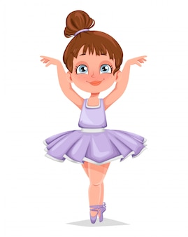 Schattig klein meisje ballerina