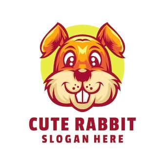 Schattig konijn logo