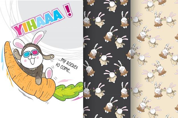 Schattig konijnenpatroon