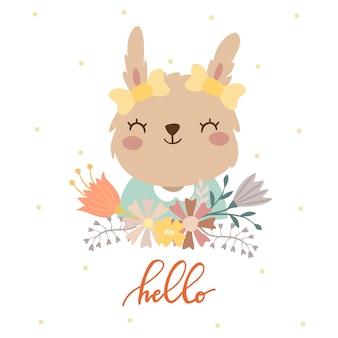 Schattig konijntje hallo
