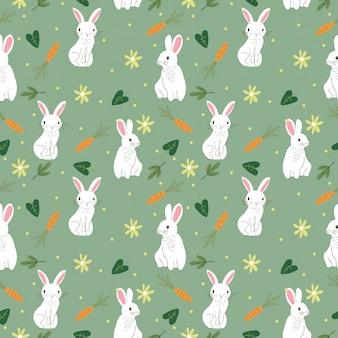 Schattig konijntje naadloos patroon