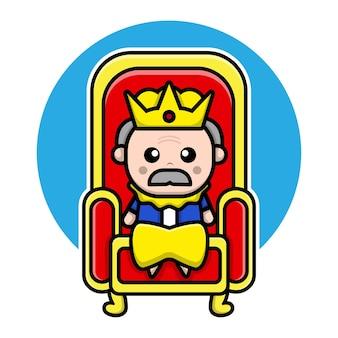Schattig koning stripfiguur