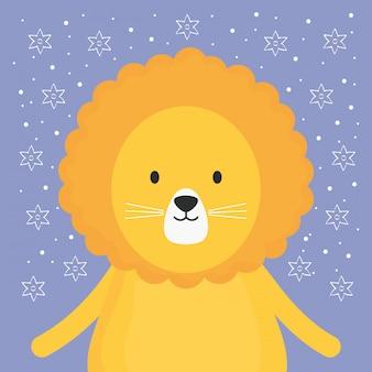 Schattig leeuw schattig karakter