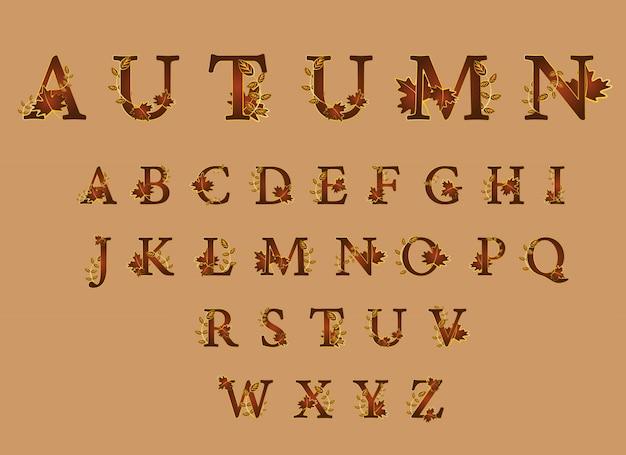 Schattig lettertype voor herfst seizoenen