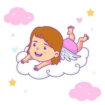 Schattig meisje baby engel