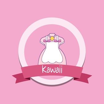 Schattig meisje kleding kawaii-stijl met lint