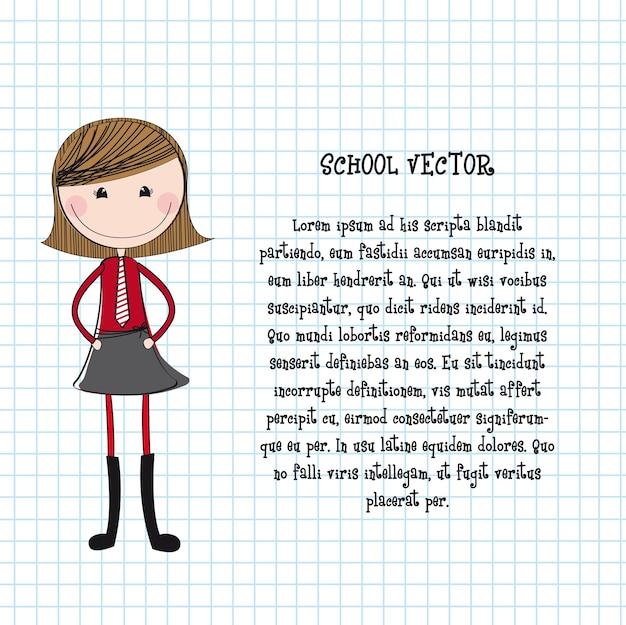 Schattig meisje met uniform