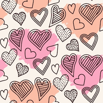 Schattig naadloze hart patroon ontwerp