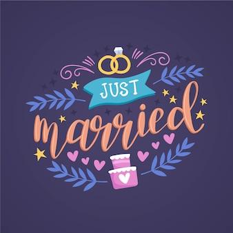 Schattig net getrouwd belettering