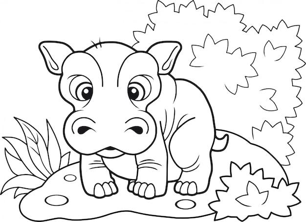 Schattig nijlpaard
