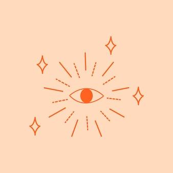 Schattig oog sticker ontwerp element vector