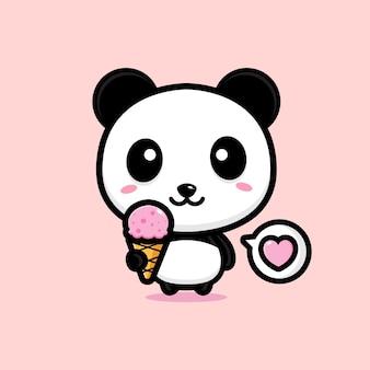 Schattig panda mascotte ontwerp