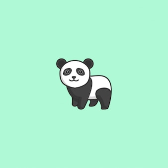 Schattig panda vector