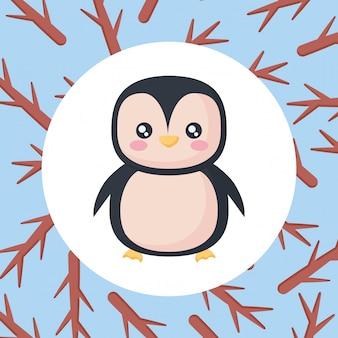 Schattig pinguin pictogram