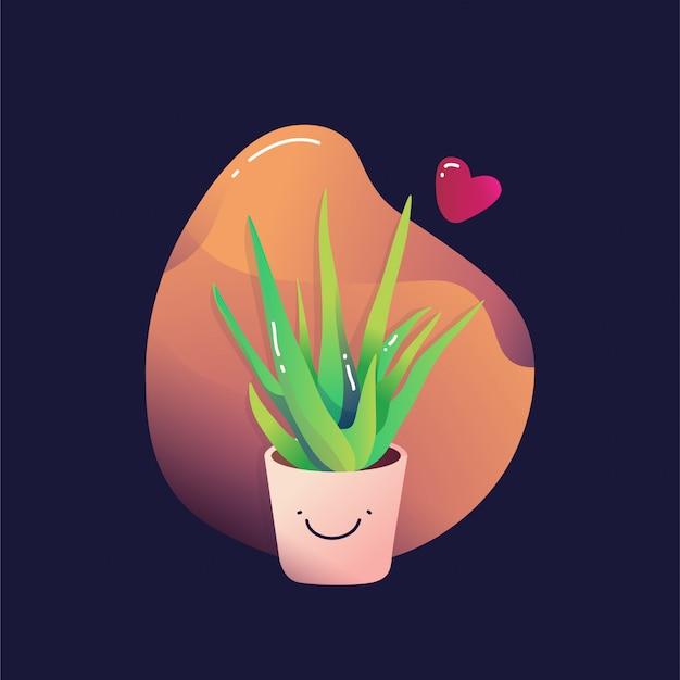 Schattig plant illustratie vector