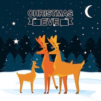 Schattig rendier kerst karakter