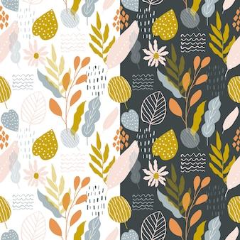 Schattig retro bloemen abstract naadloos patroon