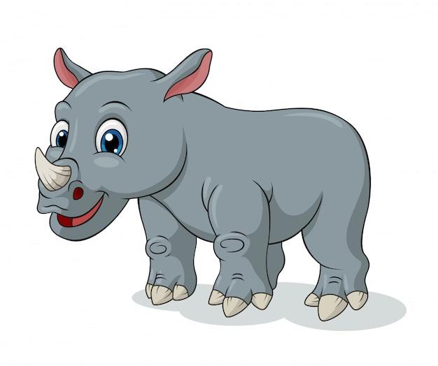 Schattig rhino cartoon