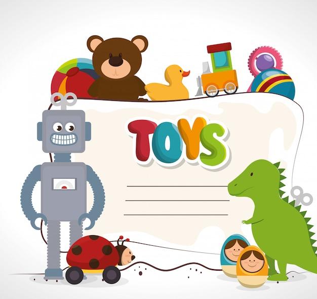 Schattig speelgoedontwerp