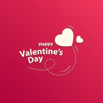 Schattig valentijnsdag kaart ontwerp