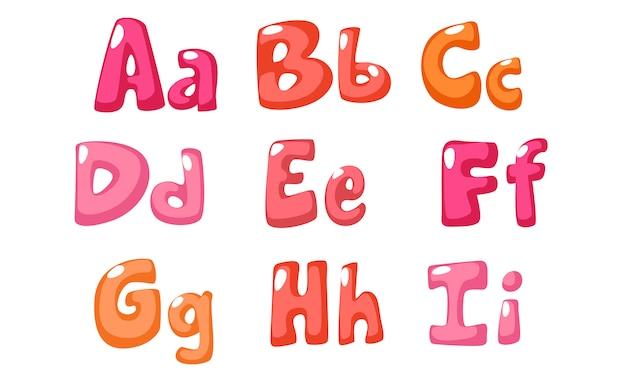 Schattig vet lettertype in roze kleur voor kinderen