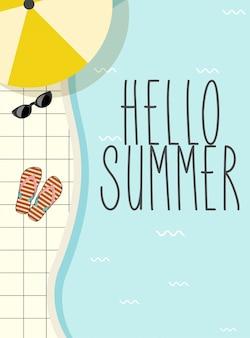 Schattig vintage zomer belettering
