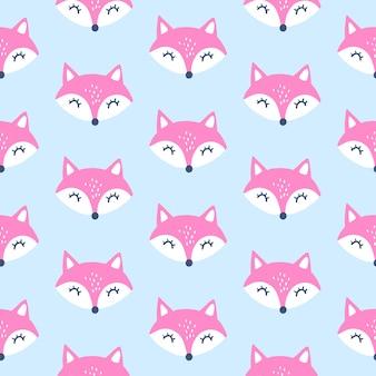 Schattig vos naadloos patroon