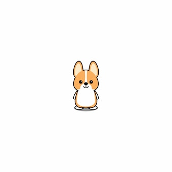 Schattig welsh corgi puppy cartoon