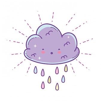 Schattig wolk cartoon
