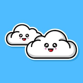 Schattig wolkencartoonontwerp
