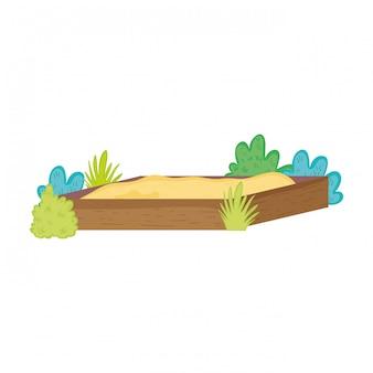 Schattig zandbak speelgoed pictogram