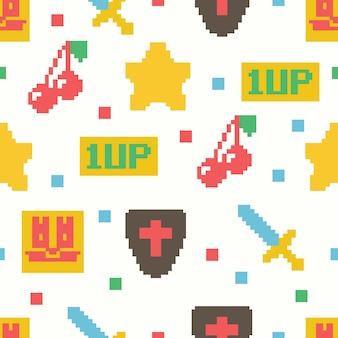 Schattige 8-bit game naadloos patroon