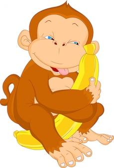 Schattige aap cartoon