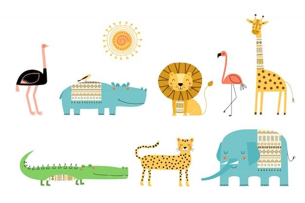 Schattige afrikaanse dieren.