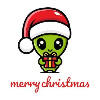 Schattige aliens die kerst vieren
