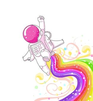 Schattige astronaut cartoon