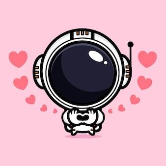 Schattige astronaut