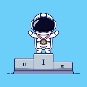 Schattige astronauten wonnen de eerste plaats
