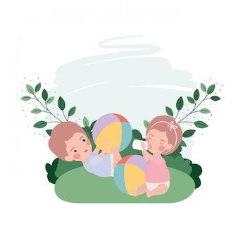Schattige baby avatar karakter spelen