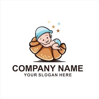 Schattige baby bakkerij logo
