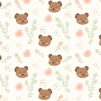 Schattige baby beer bewerkbare patroon