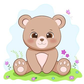 Schattige baby beer