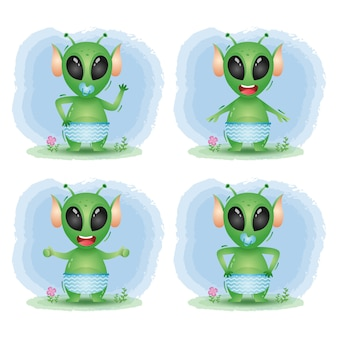 Schattige baby buitenaardse collectie