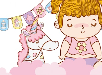 Schattige baby cartoon