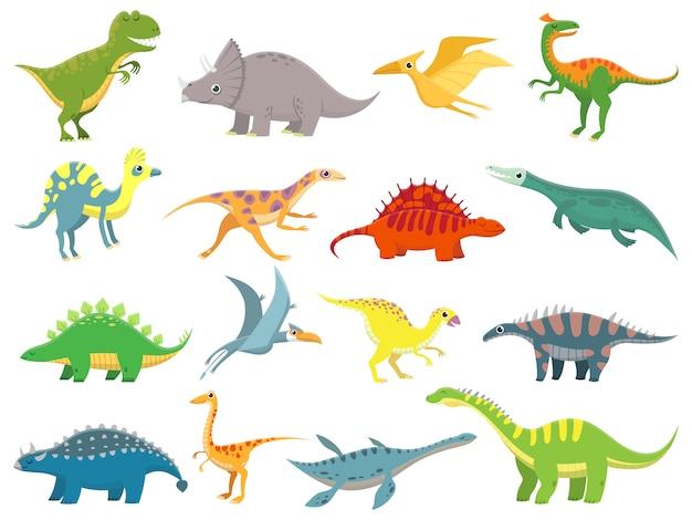 Schattige baby dinosaurus. dinosaurussen draak en grappige dino karakter.