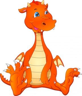 Schattige baby draak cartoon