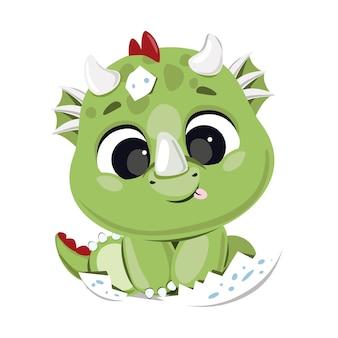 Schattige baby draak uit ei uitgebroed